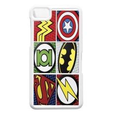 Heavencase Blackberry Z10 Hard Case Superhero Logo - Putih
