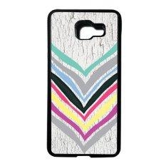 Heavencase Case Casing Samsung Galaxy A5 (2016) / Samsung Galaxy A510 Softcase Tpu Bumper Motif Batik Kayu Chevron 16 - Hitam