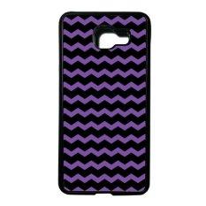Heavencase Case Casing Samsung Galaxy A5 (2016) / Samsung Galaxy A510 Softcase Tpu Bumper Motif Batik Kayu Chevron 51 - Hitam