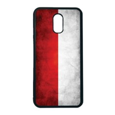 HEAVENCASE Case Casing Samsung Galaxy J7 Plus Case Softcase Hitam Motif Bendera Indonesia