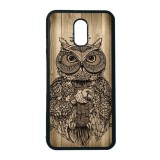 Cuci Gudang Heavencase Case Casing Samsung Galaxy J7 Plus Case Softcase Hitam Motif Unik Owl Wood
