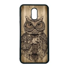 Diskon Heavencase Case Casing Samsung Galaxy J7 Plus Case Softcase Hitam Motif Unik Owl Wood Branded