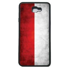 HEAVENCASE Case Casing Samsung Galaxy J7 Prime Case Softcase Bumper Motif Bendera Indonesia - Hitam