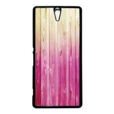 Heavencase Case Casing Sony Xperia C5 Ultra Or C5 Ultra Dual Hard Case Motif Batik Kayu Bokeh 09 - Hitam
