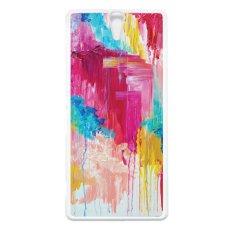 Heavencase Case Casing Sony Xperia C5 Ultra Or C5 Ultra Dual Hard Case Motif Batik Kayu Bokeh 12 - Putih