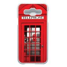 Spesifikasi Heavencase Casing Samsung Galaxy E5 Case Hardcase Motif Unik Red Telephone Box Putih Lengkap Dengan Harga