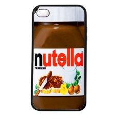 Heavencase Iphone 4/4s Rubber/Soft Case Nutella - Hitam