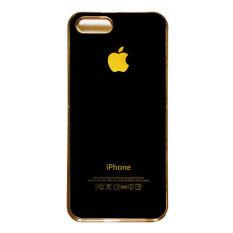 Heavencase   Iphone 5 and Iphone 5s Hard Case Apple Logo Motif Gold 01 - Emas
