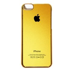 Penawaran Istimewa Heavencase Iphone 5C Hard Case Apple Logo Motif Gold 02 Emas Terbaru