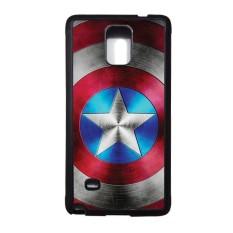 Promo Heavencase Samsung Galaxy Note 4 Rubber Soft Case Captain America 01 Hitam Heavencase Terbaru