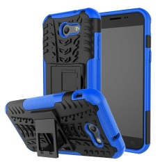 Heavy Duty Armor Stand Pelindung 2 In 1 Double Warna ShockProof Cover Case untuk Samsung Galaxy