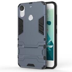 Tugas Berat Dual Layer DROP Protection Shockproof Armor Hybrid Steel Style Cover Pelindung Case dengan Self Stand untuk HTC Desire 10 Pro-Intl