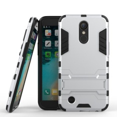 [Heavy Duty] [Shock-Absorption] [Kickstand Fitur] Hybrid Dual Layer Armor Defender Full Body Protective Case Cover untuk LG K20 V/LG K10 2017/LG K20 Plus/LG LV5-Intl
