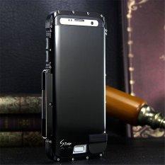 Heavy Full Body Armor Hybrid Defender Aluminium Metal Protective Case Cover untuk Samsung Galaxy S7 Edge (Hitam) -Intl