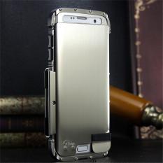 Heavy Full Body Armor Hybrid Defender Aluminium Metal Protective Case Cover untuk Samsung Galaxy S7 Edge (Silver) -Intl