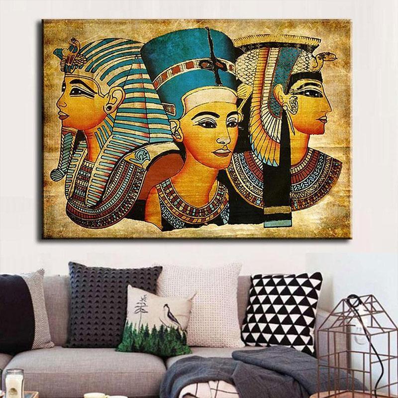 Rp 86.000. Hebat Modern Abstrak Firaun Mesir Seni Lukisan Cat Minyak Kanvas untuk Dekorasi Rumah-InternasionalIDR86000