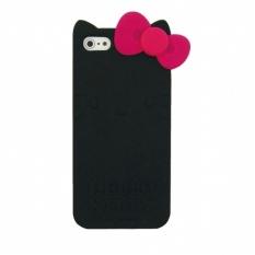 Harga Hello Kitty Siliocone Jacket Iphone 5 Hitam Original