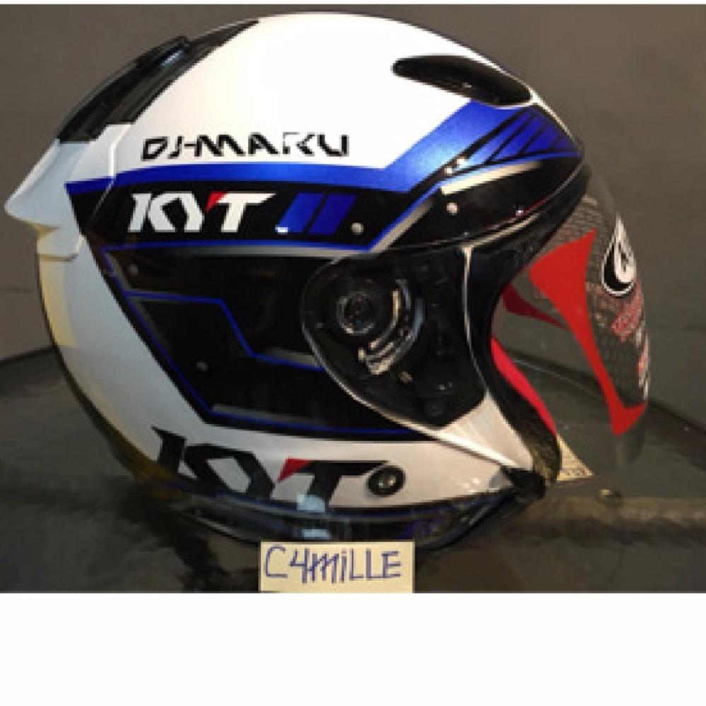 Helm KYT Dj Maru White Blue Original