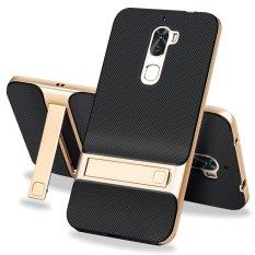 Hi Case Anti-Gores TPU + Rangka Bemper PC Kickstand Pelindung Case Cover untuk Letv Coolpad Cool1 Emas