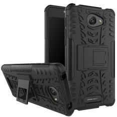 Hicase Detachable 2 In 1 Shockproof Tough Rugged Dual-Layer Case Cover untuk Alcatel POP 4 S Hitam- INTL