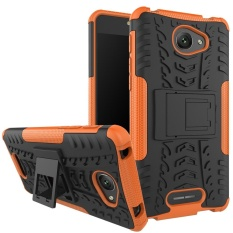 Hicase Detachable 2 In 1 Shockproof Tough Rugged Dual-Layer Case Cover untuk Alcatel POP 4 S Orange- INTL