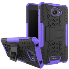 Hicase Detachable 2 In 1 Shockproof Tough Rugged Dual-Layer Case Cover untuk Alcatel POP 4 S Ungu- INTL