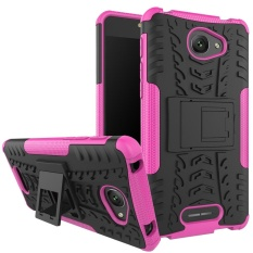 Hicase Detachable 2 In 1 Shockproof Tough Rugged Dual-Layer Case Cover untuk Alcatel POP 4 S Rose- INTL