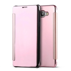 Hi Case Cermin Smart Jelas Casing Lipat Berjendela Cover untuk Samsung Galaxy C9 Pro (2016) Mawar Emas-Intl