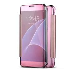 Hicase Mirror Smart Clear View Window Flip Case Cover untuk Xiaomi Mi Note 2 (2016) Rose Gold-Intl