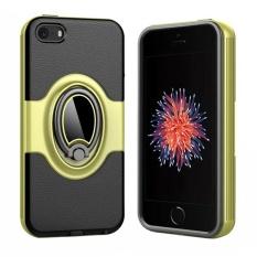 Hai Case Penyerapan Guncang Bemper dan Anti-Menggaruk Belakang Case Sarung untuk iPhone 5/5 S/ se dengan Dibangun Di-Dalam Pegangan Berputar Lingkaran Stand Penyangga-Internasional