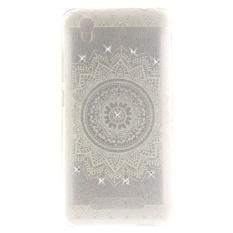 Hicase Soft Anti-Gores TPU dengan Stylish Pattern Design Case Cover untuk ZTE Blade A452-Putih Mandala- INTL
