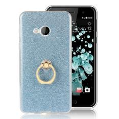 Hicase Soft TPU Protective Case Ring Holder Kickstand Cover for HTC U Play Blue - intl