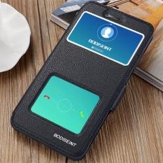 Hi Case Ultra Tipis Kulit Flip Pu Jendela View dengan Kickstand Fitur Magnetic Penutupan Case Pelindung untuk Xiaomi Redmi Note 4X Biru- internasional