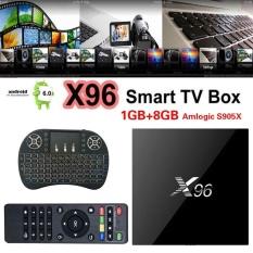 High 1x Quad Core Amlogic S905X X96 Smart TV Box 1GB/8GB HDMI WITH Cable - intl