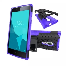 High Shockproof Case dengan Kickstand untuk Alcatel One Touch Flash 2 (Ungu)