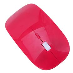 Promo Toko Kualitas Tinggi 2 4G Mouse Nirkabel Bluetooth Untuk Laptop Komputer Pc Desktop Merah
