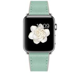 Review Pada Berkualitas Tinggi 2 Warna Kulit Band Strap Adaptor Untuk Apple Watch Iwatch 38Mm Intl