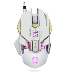 High quality/ 3200DPI Optical Adjustable 7D Button Wired Mechanical Gaming MouseMice For PC White - intl