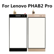 Kualitas Tinggi 6.4 Inch untuk Lenovo PHAB2 Pro 100% Baru Warna Hitam atau Emas Kaca Depan Mendigitalkan Layar Sentuh + Freetools + 3 M Tape + Membuka Alat Perbaikan + Lem-Intl