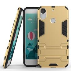 Tinggi Kualitas Armor 2 In 1 PC dan TPU Lembut Kantong Gas Stand Back Case Cover untuk HTC Desire 10 PRO Kasus Golden-Intl