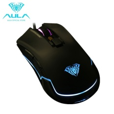 High quality/ AULA OFFICIAL The Nomad 16.8 million colors 6 Cycle Adjustable DPIBreathe Light Gaming Mouse