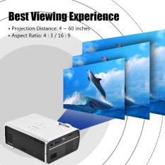 Rumah Theater Berkualitas Tinggi Mini LED Projector HD 1080 P HDMI USB Multimedia Pemutar AS Steker Putih-Internasional
