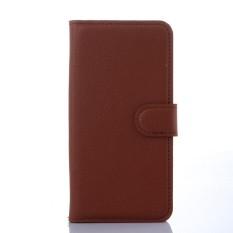 Kulit Berkualitas Tinggi Kasus Telepon [Untuk Alcatel One Touch POP S3 OT5050] Original Cell Phone Case Flip Wallet Book Style Cover YJLX (Hitam) -Intl