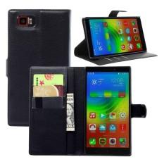 Kulit Berkualitas Tinggi Kasus Telepon [Untuk Lenovo VIBE Z2 Pro K920] Original Cell Phone Case Flip Wallet Book Gaya Cover YJLX (Hitam) -Intl