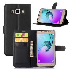 Kulit Berkualitas Tinggi Kasus Telepon [Untuk Samsung Galaxy J7 2016 J710] Original Cell Phone Case Flip Wallet Book Gaya Cover YJLX (Hitam) -Intl