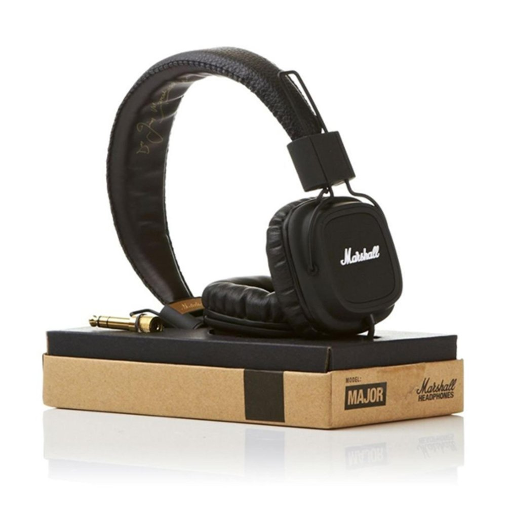 Jual High Quality Marshall Major Premium Headphone Bass Black Termurah