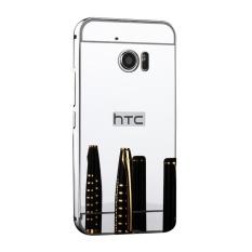 Cermin Berkualitas Tinggi Bingkai Logam Back Case Cover untuk HTC 10 EVO (Bolt) (perak)-Intl