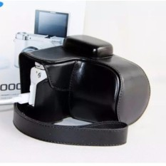 High Quality Professional PU Leather Camera Bag Case For SamsungNX3000 20-50mm With Leather Shoulder Strap Camera Cover  - intl