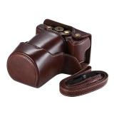Diskon Besarberkualitas Tinggi Pu Tas Kamera Kulit Kasus Fullbody Cover Dengan Tali Leher Yang Dapat Disesuaikan Untuk Canon Eos M6 Intl