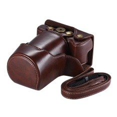 Harga Berkualitas Tinggi Pu Tas Kamera Kulit Kasus Fullbody Cover Dengan Tali Leher Yang Dapat Disesuaikan Untuk Canon Eos M6 Intl Tiongkok